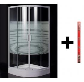 Душевая кабина Eger TISZA(AMUR) 90*90*200, мелкий поддон стекло Frizek + Монтажный набор Ravak для п