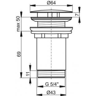 Слив для умывальника белый/хром, X01695