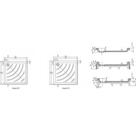 Поддон для душевых кабин Ravak ANGELA 90 LA, квадратный, акрил, A017701220