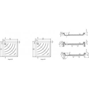 Поддон для душевых кабин Ravak ANGELA 90 PU, квадратный, акрил, A007701120
