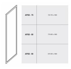 Стенка для душевой кабинки Ravak SUPERNOVA APSS-80 Pearl, белый профиль, пластик, 9404010211