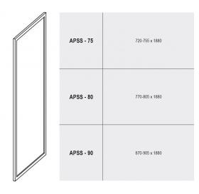 Стенка для душевой кабинки Ravak SUPERNOVA APSS-80 Grape, белый профиль, стекло, 94040102ZG