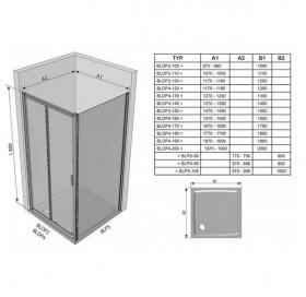 Душевые двери Ravak BLIX BLDP 2 - 120 R-L белый + grape 0PVG0100ZG