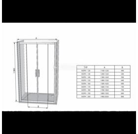 Душевые двери Ravak BLIX BLDP 4 - 130 сатин+Transparent, 0YVJ0U00Z1