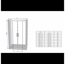 Душевые двери Ravak BLIX BLDP 4 - 120 сатин+Transparent, 0YVG0U00Z1