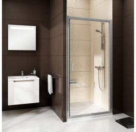 Душевые двери Ravak BLIX BLDP 2 - 120 Transparent, полированный алюминий, безопасное стекло, 0PVG0C0