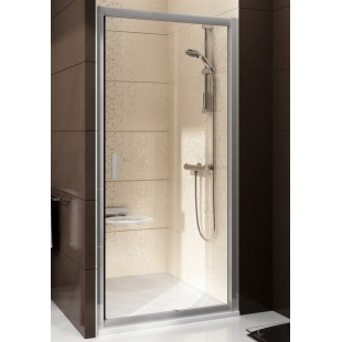 Душевые двери Ravak BLIX BLDP 2 - 110 Transparent, полированный алюминий, безопасное стекло, 0PVD0C0