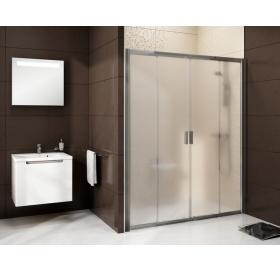 Душевые двери Ravak BLIX BLDP 4 - 140 Grape, полированный алюминий, безопасное стекло, 0YVM0C00ZG