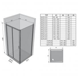 Стенка для душевой кабинки Ravak BLIX BLPS - 100 белый+transparent, 9BHA0100Z1