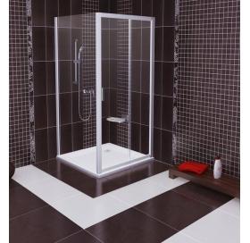 Стенка для душевой кабинки Ravak BLIX BLPS - 80 Transparent, белый профиль, стекло, 9BH40100Z1