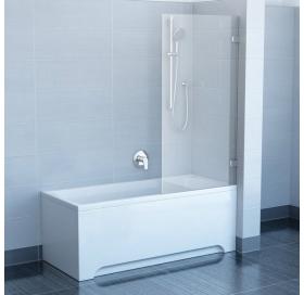 Шторка для ванны Ravak BVS1 - 80 TRANSPARENT хром, 7U840A00Z1