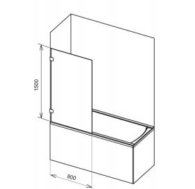 Держатель шторы для ванны Ravak B SET BVS1 - 80 хром, D01000A070
