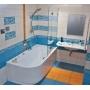 Шторка для ванны Ravak BVS2 - 100 R TRANSPARENT хром, 7UPA0A00Z1