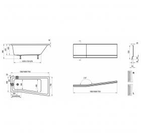 Панель для ванны Ravak BE HAPPY II 160 L (CZ96100A00)
