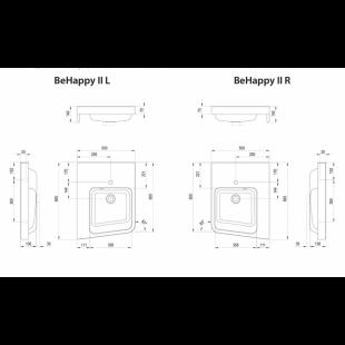 Угловой умывальник Ravak BeHappy II, белый, правый, XJAP1100001