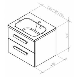 Шкафчик под умывальник SD Chrome II белый/белый, X000000918