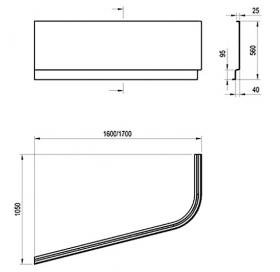 Панель для ванны Ravak CHROME 160x105 R, CZA6100A00