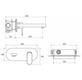 Настенный смеситель для умывальника, X070093