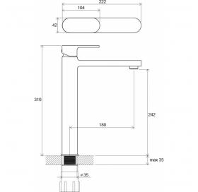 Высокий смеситель для умывальника Ravak CHROME, X070100
