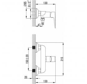 Комплект смесителей для душа Ravak CLASSIC 3 В 1, CL012+CL032+X01106