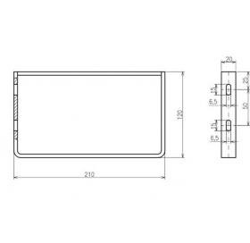 Кронштейн с полотенцедержателем для умывальника Ravak CLASSIC 400, B14000100P