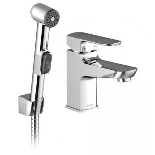 Смеситель Ravak для умывальника с гигиеническим душем и настенным держателем, X070076