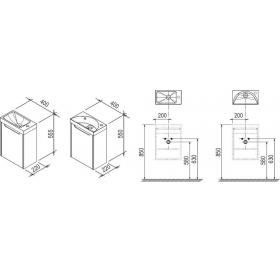 Тумба для раковины Ravak SD CLASSIC 400, 40 см, береза, без дверц, X000000417