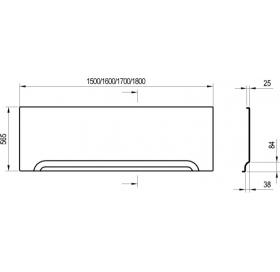 Панель фронтальная  Ravak U 160 ST (XAU0000007)