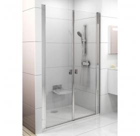 Душевая дверь Ravak CHROME CSDL 2 - 90 Transparent, белый профиль, безопасное стекло, 0QV7C10LZ1