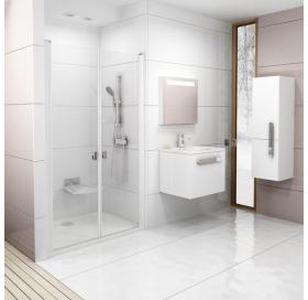 Душевая дверь Ravak CHROME CSDL 2 - 100 Transparent, профиль сатин, безопасное стекло, 0QVACU0LZ1