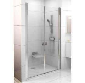 Душевая дверь Ravak CHROME CSDL 2 - 120 Transparent, белый профиль, безопасное стекло, 0QVGC10LZ1