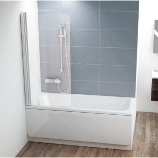 Шторка для ванны Ravak CVS1 - 80 L TRANSPARENT белый профиль, 7QL40100Z1