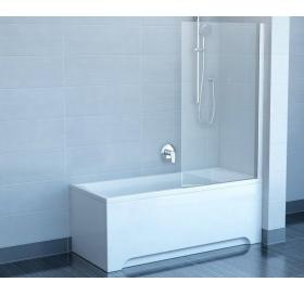 Шторка для ванны Ravak CVS1 - 80 R TRANSPARENT белый профиль, 7QR40100Z1