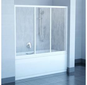 Штора для ванны Ravak AVDP3 -120 TRANSPARENT сатин профиль, 40VG0U02Z1