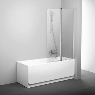 Шторка для ванны Ravak CVS2 - 100 L TRANSPARENT белый профиль, 7QLA0100Z1