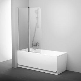 Шторка для ванны Ravak CVS2 - 100 L TRANSPARENT профиль полированный алюминий, 7QLA0C00Z1