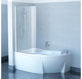 Шторка для ванны Ravak CVSK1 Rosa 160/170 L TRANSPARENT профиль сатин, 7QLS0U00Y1