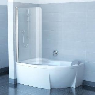 Шторка для ванны Ravak CVSK1 Rosa 140/150 L TRANSPARENT белый профиль, 7QLM0100Y1