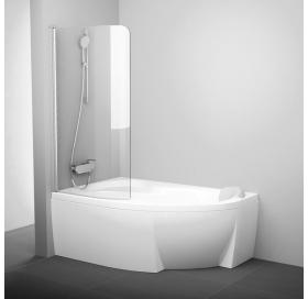 Шторка для ванны Ravak CVSK1 Rosa 160/170 L TRANSPARENT профиль полированный алюминий, 7QLS0C00Y1