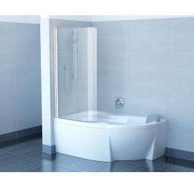 Шторка для ванны Ravak CVSK1 Rosa 140/150 L TRANSPARENT профиль полированный алюминий, 7QLM0C00Y1