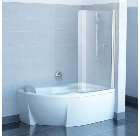 Шторка для ванны Ravak CVSK1 Rosa 140/150 R TRANSPARENT белый профиль, 7QRM0100Y1