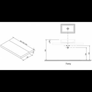Столешница под умывальник Ravak I 1000 белый, X000000840