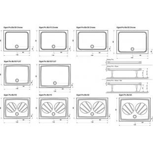 Панель для поддона Ravak GIGANT PRO 90x120, с креплением Set L, XA83GL71010