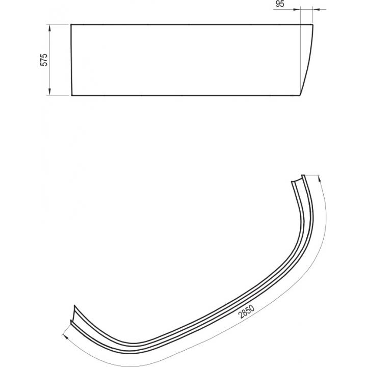 Панель фронтальная Ravak LOVE STORY II R (CZ76100A00)