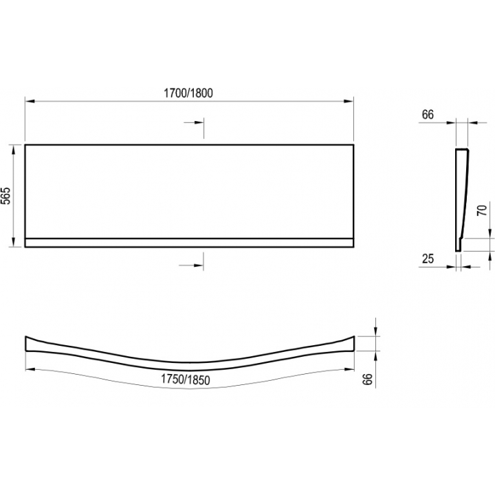 Панель фронтальная Ravak MAGNOLIA 180 (CZ61000A00)