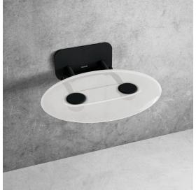 Сиденье для душа Ravak OVO P II, прозрачный/черный, B8F0000056