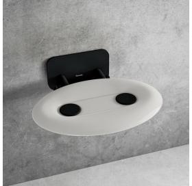 Сиденье для душа Ravak OVO P II, полупрозрачный белый/черный, B8F0000057