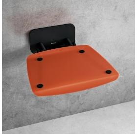 Сиденье для душа Ravak OVO B II, полупрозрачный оранжевый/черный, B8F0000061