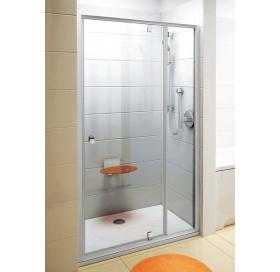 Душевые двери Ravak PIVOT PDOP 2 - 120 Transparent, профиль сатин, безопасное стекло, 03GG0U00Z1
