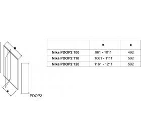 Душевые двери Ravak PIVOT PDOP 2 - 120 Transparent, белый профиль, ручка белая, безопасное стекло, 0